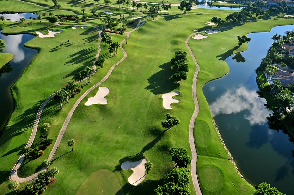 aerial view of florida golf course